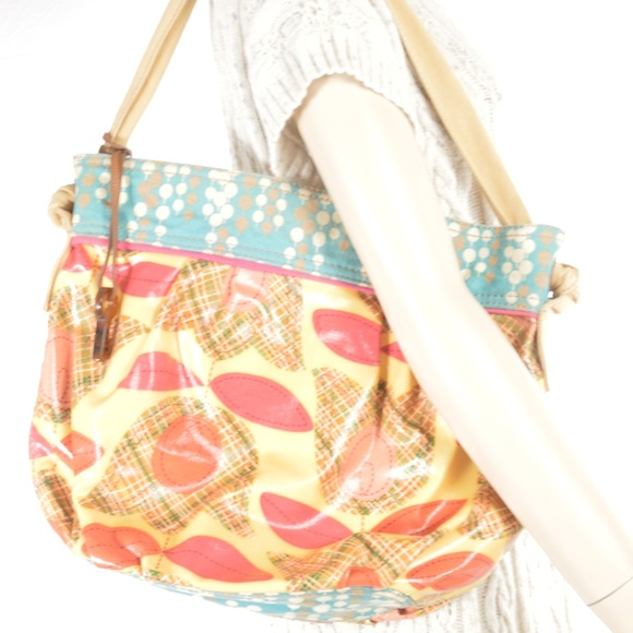 Fossil Handbags - Fossil tote, large, canvas coated, colorful abstra